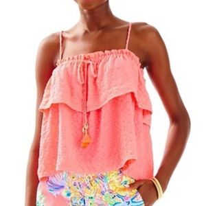 🌸 NWT Lilly Pulitzer Mays top XS coral reef